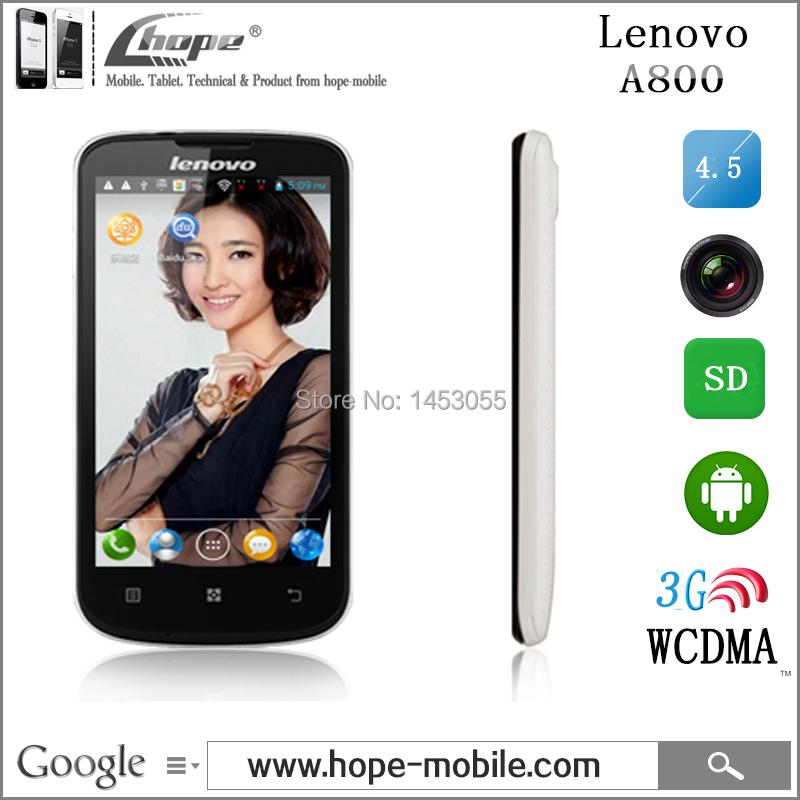 Мобильный телефон Lenovo A800 4.5' 3 g WCDMA mtk6577 android 4.0 4 ROM 512MB GPS WIFI SIM мобильный телефон jeep z6 z6 android 4 2 mtk 6572 5 0mp 0 3mp 3 g wcdma gps