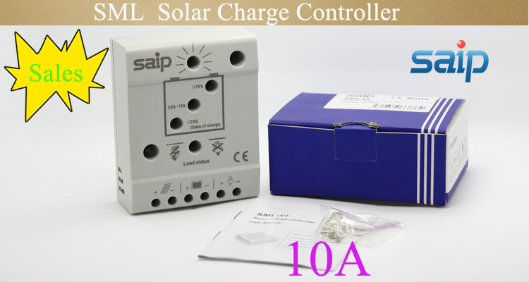 Low Shipping Cost Price Hot Sale 12/24V Fully Electronocal Efficient LED PWM Solar Charge Lights with remote controller SML 10A(China (Mainland))
