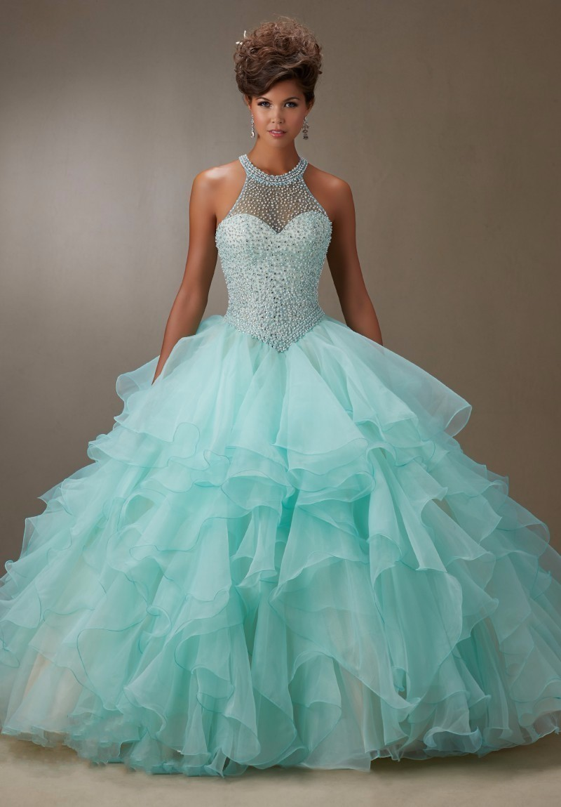 2016-New-Arrival-Bare-Pink-Ball-Gown-Organza-Ruffled-Beading-Quinceanera-Dresses-Pageant-15-years-dress