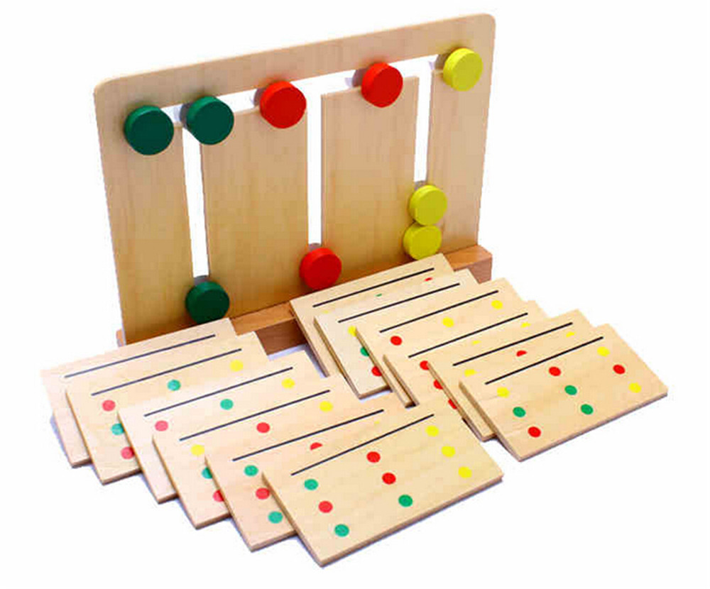 Toys For Early Childhood : Baby toy montessori wooden teaching three color