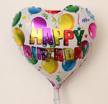 10 unids/lote 18 pulgadas amor en forma de corazón de helio feliz cumpleaños Foil fiesta de cumpleaños hincha decoraciones navideñas