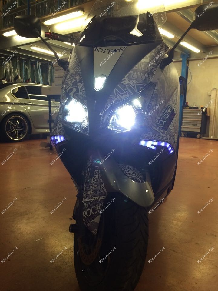 7200LM Double COB LED Motorcycle Headlight case for YAMAHA TMAX 530 Brighter than HID 5500K Motorbike lamp 1A Freeshipping GGG(China (Mainland))