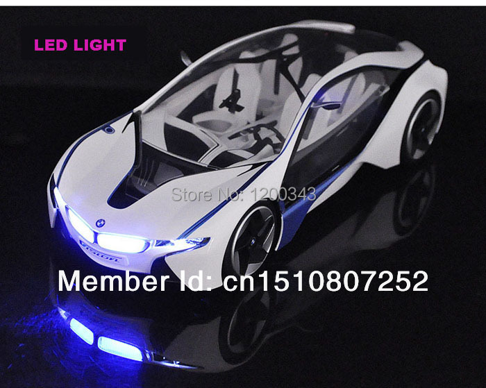 Free shipping VED 1:14 i8 RC Car Electric Remote Control Car Radio Control Toys For Children(China (Mainland))