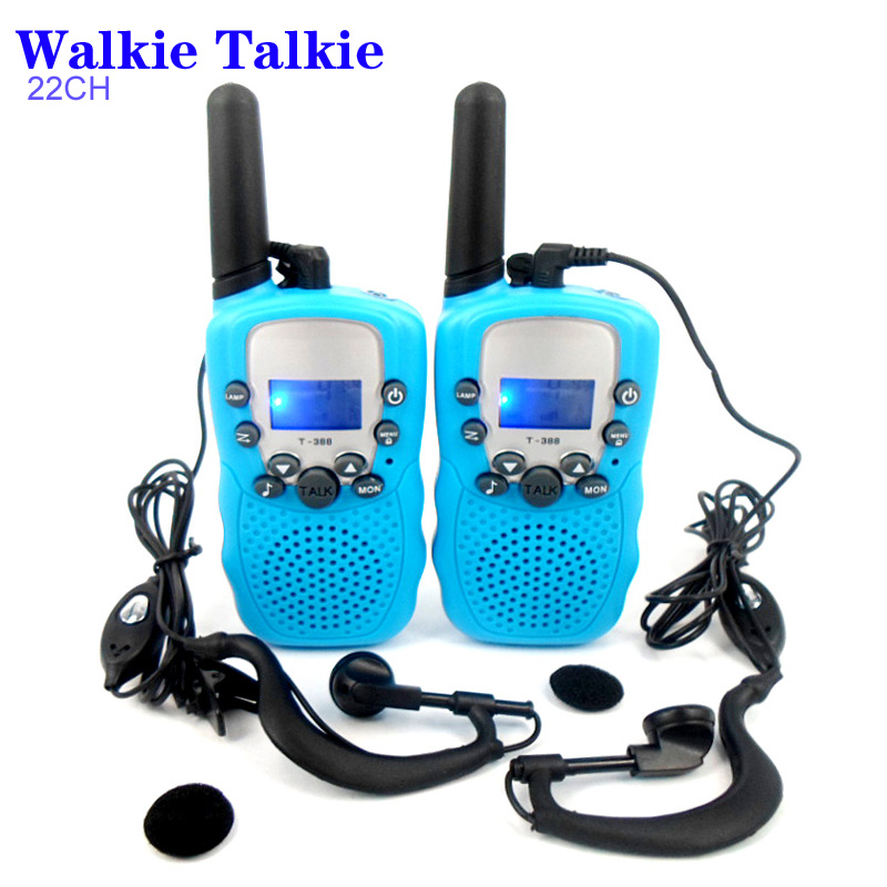 T-388 22 Channels Two Way Radio Travel Intercom 2 piece Walkie Talkie + 2 piece Earphone Five color optional(China (Mainland))