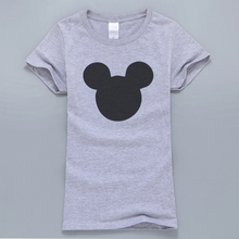 Buy 2017 New Summer Mouse Head Printed Women T-Shirt Kawaii Harajuku Style T-Shirt Female Tops Cotton High T Shirts Fans for $5.57 in AliExpress store