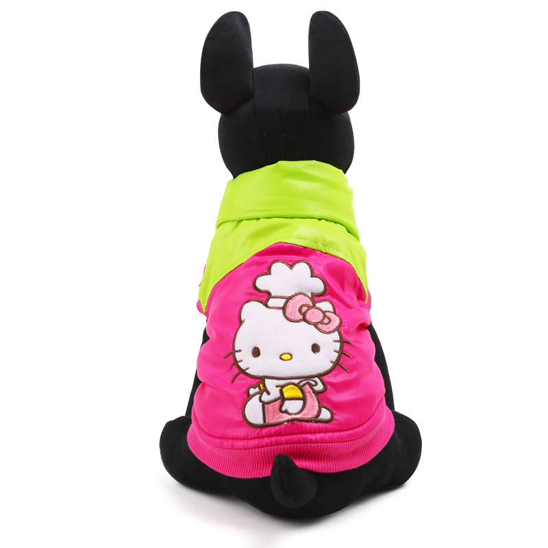 Cute Hello Kitty Pet Dog Clothes Winter Puppy Clothes Small Dogs Hoodie Coat Warm Vest Jackets Apparel(China (Mainland))