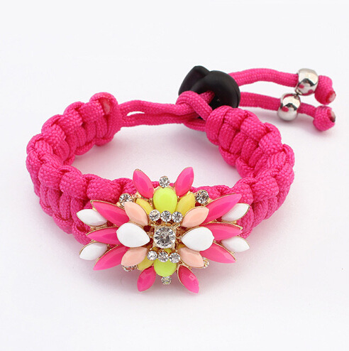 2014 Elry Wholesale In Europe And America Personalized Candy Color Systems Bracelet All-match Hand Decorated Yuan Shop Supply(China (Mainland))