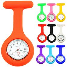 New Cute Silicone Nurse Watch Brooch Fob Pocket Tunic Quartz Movement Watch  N76Y 98YX(China (Mainland))