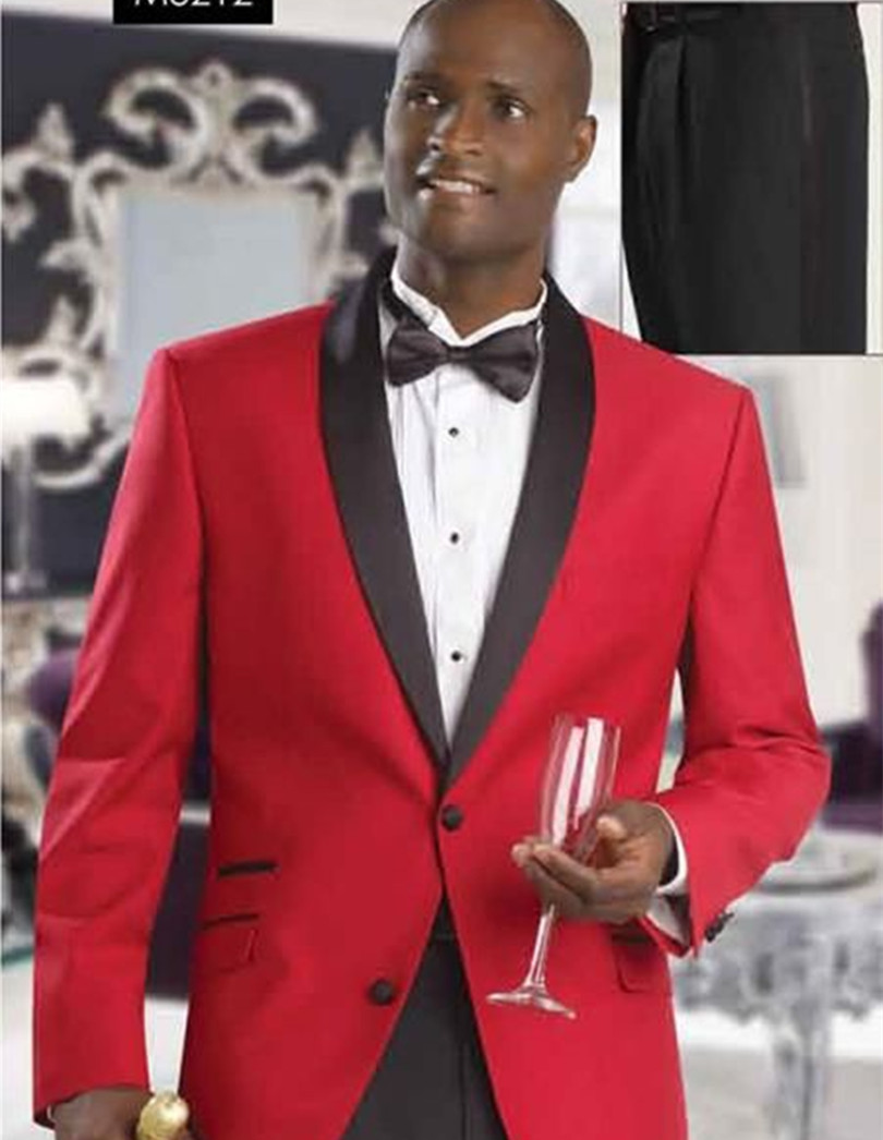 Black And Red Tuxedo For Prom