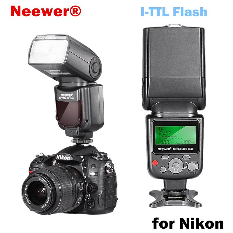 Neewer VK750 II i-TTL Speedlite Flash w/ LCD Display for Nikon D7100 D7000 D5300 D5200 D700 D600 D90 D80 D80 Digital SLR Camera(China (Mainland))