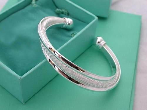 Free Shipping Edge Mesh Bangle Wholesale 925 Sterling Silver fashion jewelry bangle.silver bangle.925 bangle.Super price RM10(China (Mainland))