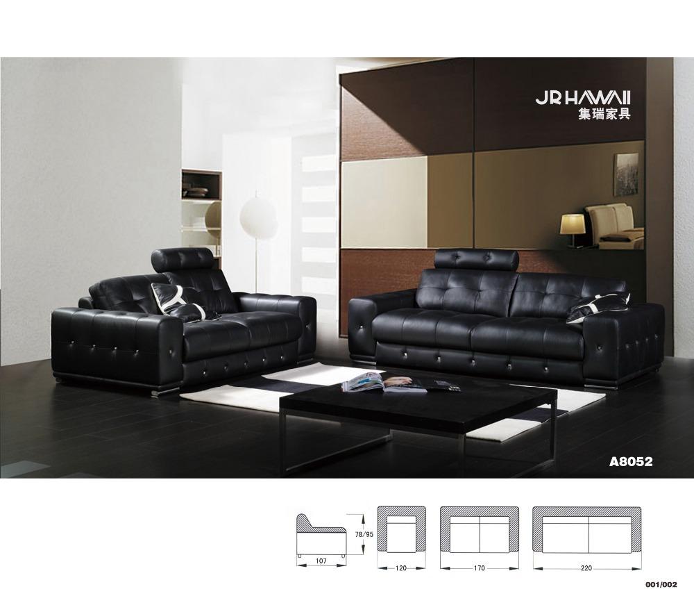 Fashion high quality genuine top layer leather sofa set chaise sofa three seater love seat+sofa 8052 living room home furnitrue(China (Mainland))