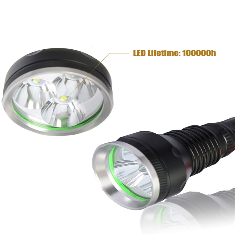 Cree LED Flashlight 2000 Lumen   Zoomable Powerful T6 Lamp Camping Torch Light By 18650 Rechargeable Battery