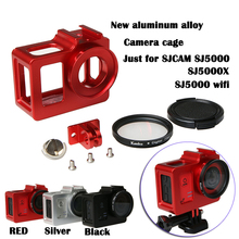 2016 New Camera Accessory, Aluminum Alloy cage/ Protective Housing Case Metal frame,UV gift for SJCAM SJ5000 WIFI/SJ5000/SJ5000X(China (Mainland))