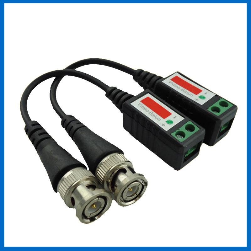 Twisted CCTV Video Balun Passive Transceivers 3000FT Distance UTP Balun BNC Cable Cat5 CCTV UTP Video Balun(China (Mainland))