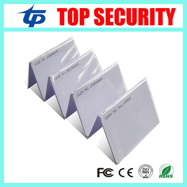 125KHZ RFID card proximity card smart card for access control and time attendance system TK4100 chip 125KHZ RFID card(China (Mainland))