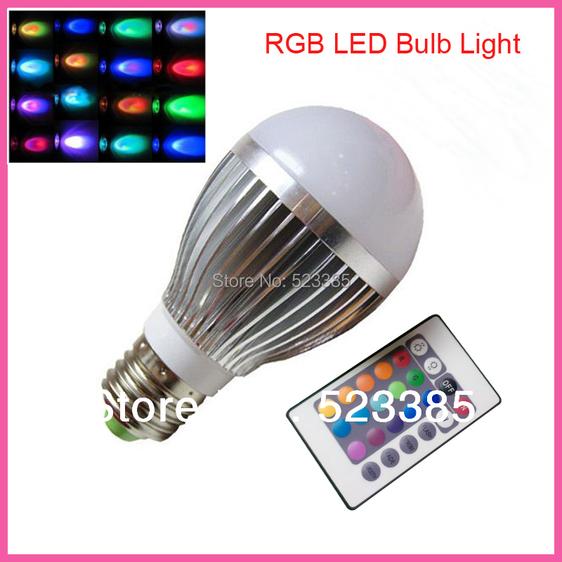 Energy Saving 3W 5W 9W E27 GU10 RGB LED Bulb Lamp light Color changing IR Remote(China (Mainland))