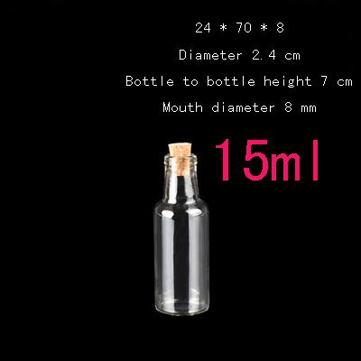wholesale Capacity 15ml(24*70*8mm) 150pcs/lot Small clear glass bottle cork drifting child, Wishing bottle,mini bottle<br><br>Aliexpress
