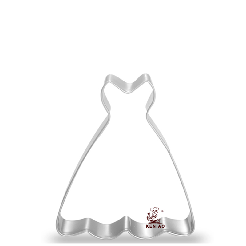 Princess wedding dress shape cookie cutter fondant cutter for Wedding dress cookie cutters