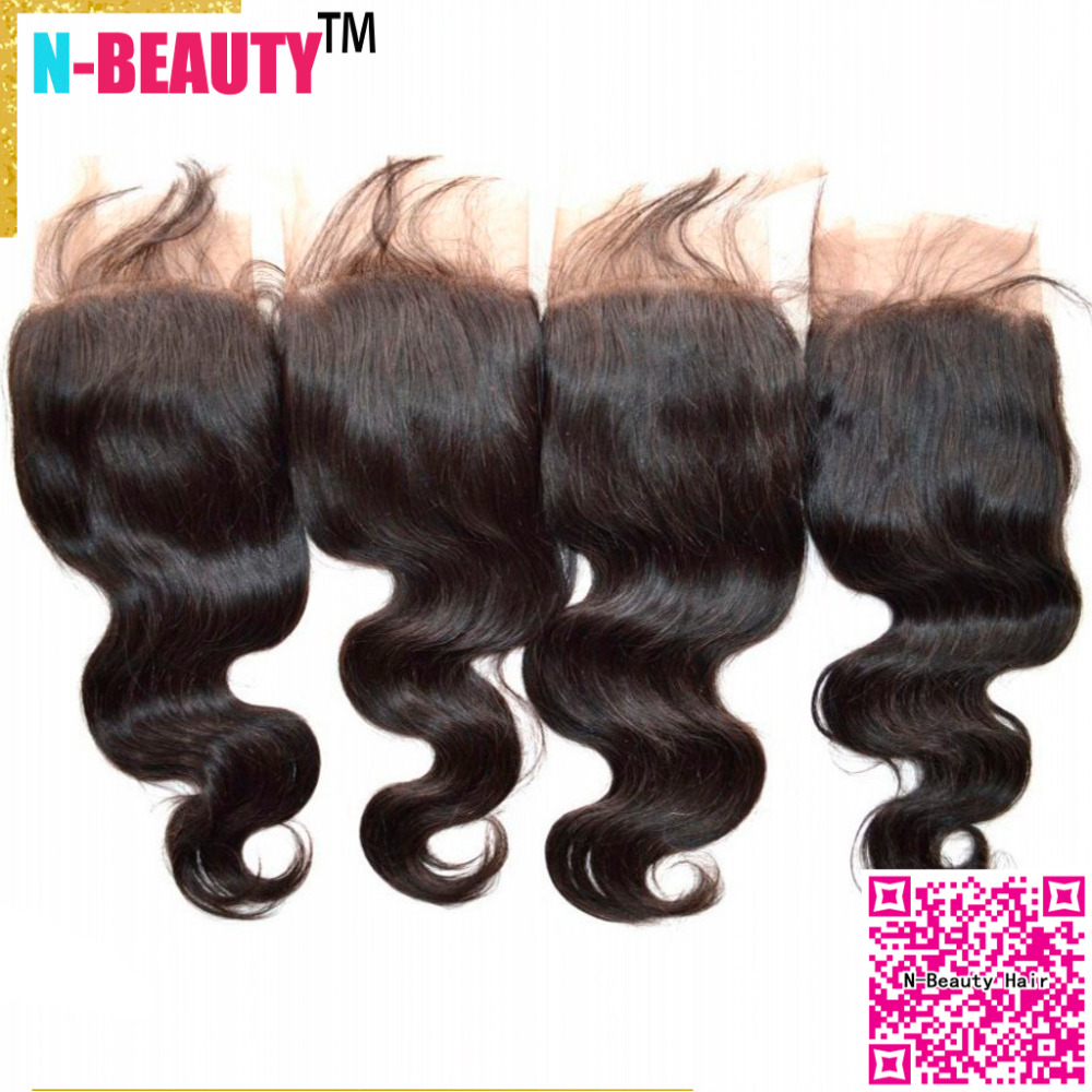 8a virgin human brazilian hair lace frontal closure 13x4 body wave ear to ear lace closure bleached knots 4pcs/lot free shipping<br><br>Aliexpress