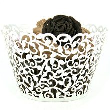 12pcs/lot White Laser Cut Cupcake Wrappers Cake Cup Wraps Wedding Birthday Hoilday Party Supplies Home Decoration Tools JJ531(China (Mainland))