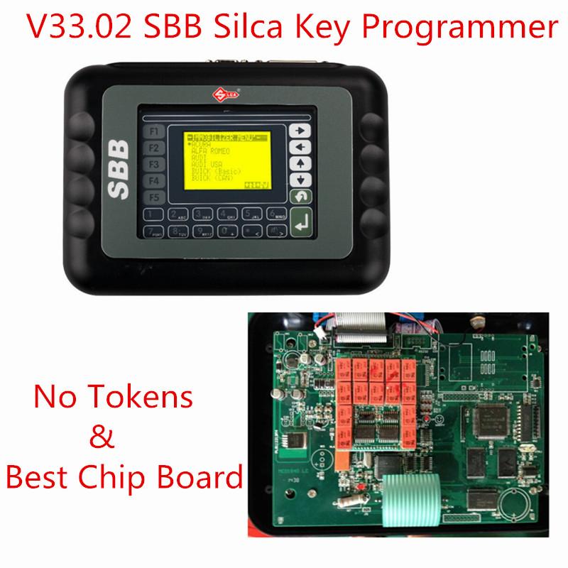 Newest Silca SBB V33.02 SBB Auto Key Programmer IMMOBILISER V33 SBB Silca Key Programmer Support Multi-languages No Need Tokens(China (Mainland))