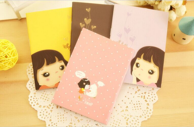 Super Cute Cartoon Girl Notebook Korea Stationery School Supplies Office Notepad Note Book Gift For Children <br><br>Aliexpress