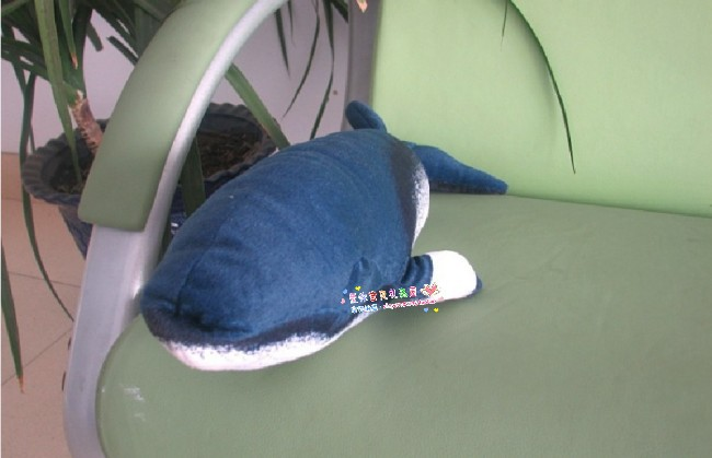 new cute small creative Baleen whales plush toy dark blue sumulaiton Baleen whales doll gift about 55cm