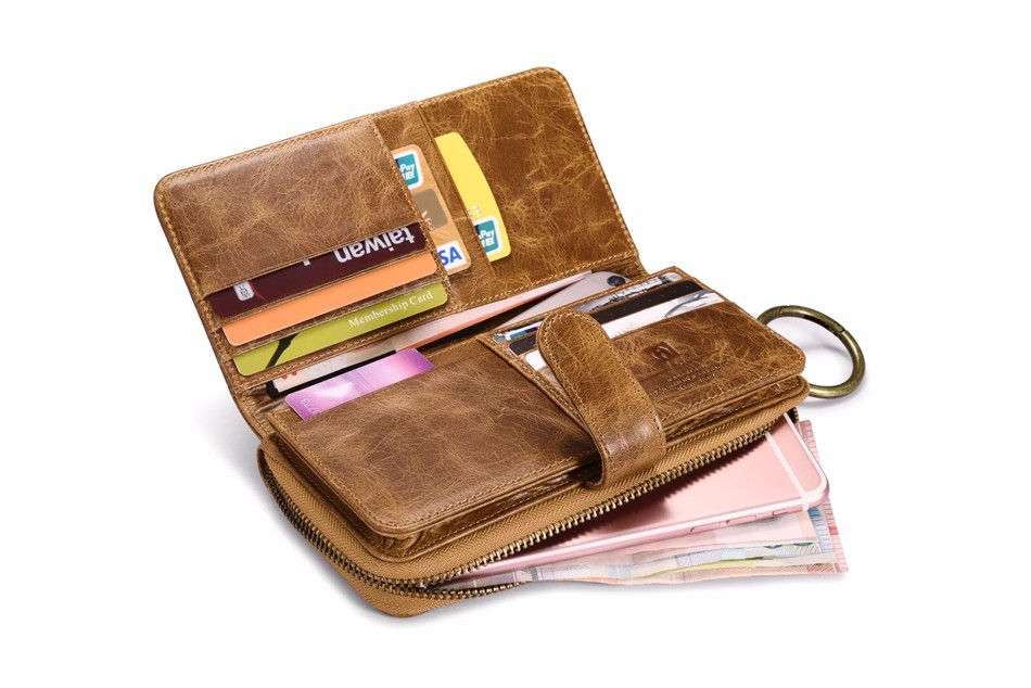 Universal Mobile Phone Bag High-end Luxury Retro High Quality Genuine Leather Cover Card Wallet Case For iPhone 7 7S 6 6S Plus