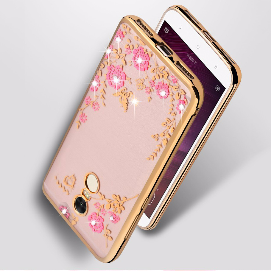5.5″ 32GB OHCFAN For Xiaomi Redmi Note 4X Case Royal Luxury Plating Tpu Soft silicone Cover For Redmi Note 4 X  Accessory Capa