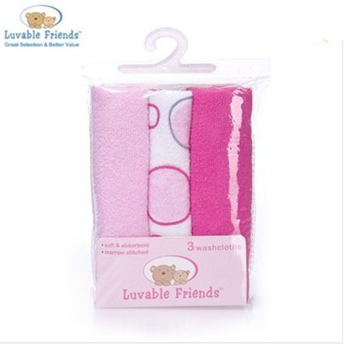 3pcs/lot USA Luvable Friends 3 Count Washcloth ,towel bath baby Free Shiping<br><br>Aliexpress