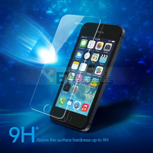 200pcs/lot For iPhone6/6S/6Plus 0.26MM 2.5D Tempered Glass Protective Film For iPhone 4/4S For iPhone5/5S/5C with crystal box