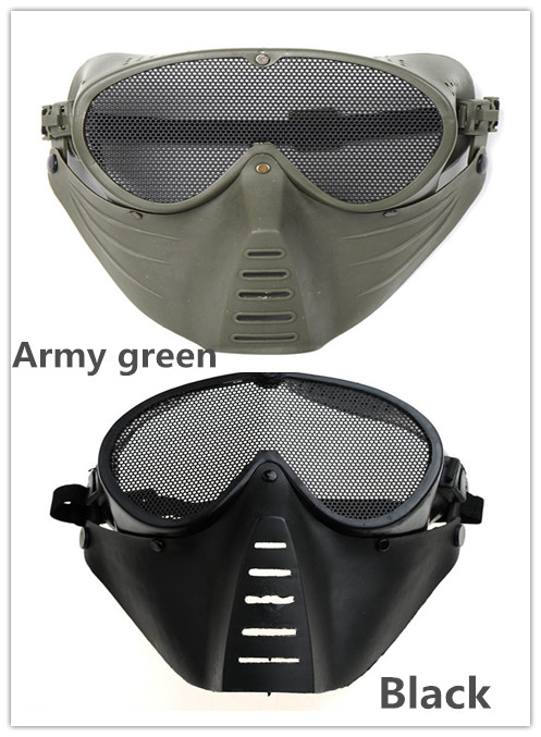 Good quality Paintball Airsoft CS Mask  Full Face Eye Nose Wear Protector Safety Guard Mesh Goggles Face Mask<br><br>Aliexpress