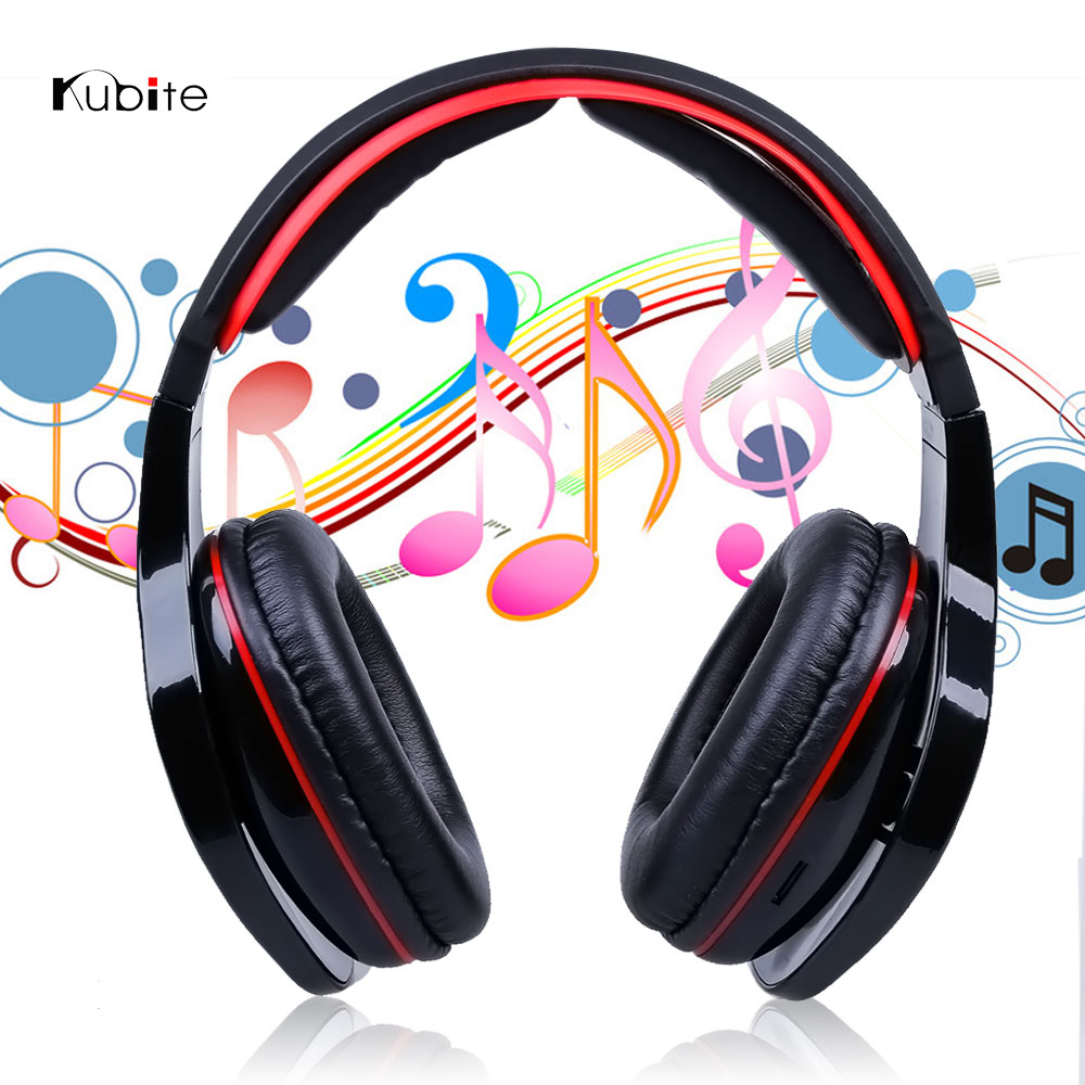 New Deep Bass Wireless Stereo Bluetooth Headphones Noise Cancelling Headset With Mic Support TF Card FM Radio Ear Buds