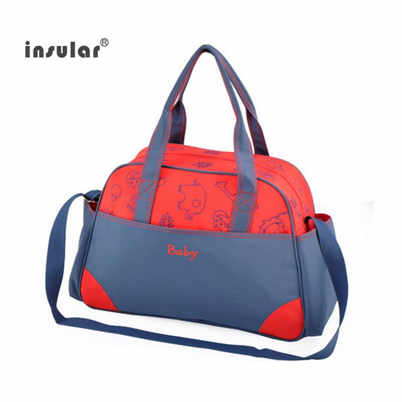 Baby Diaper Bags Baby Nappy Bag Travel Mummy Maternity Bags large capacity Handbag Messenger Bags Tote 2 color free shipping(China (Mainland))