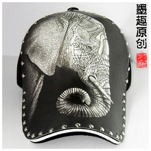 Baseball cap that female general character illustration elephant sketch design hat fashion new spring and summer cycling cap zhi(China (Mainland))
