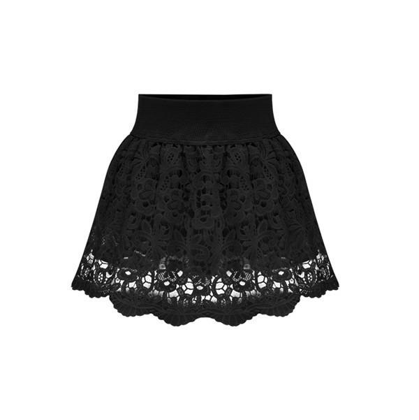 New Fashion 2015 Women Summer Skirt Lace Embroidery Skirt DQ-0346(China (Mainland))