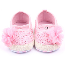 Baby Infant Girl Soft Sole Anti-slip Crochet Knit Newborn Breathable Knitting Fretwork Slip-on Shoes 0-12M(China (Mainland))