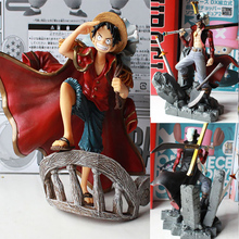 Buy Anime One Piece Monkey D Luffy Dracule Mihawk PVC Action Figure 15CM for $12.73 in AliExpress store