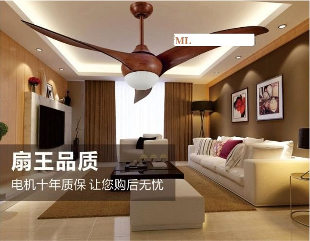 52inch Ceiling fan light living room bedroom fan lamp ceiling remote ...
