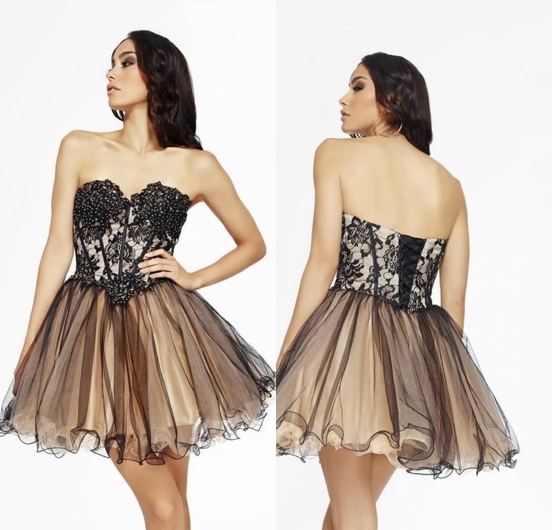 dillards short prom dresses b darlin lacebodice corkscrew dr