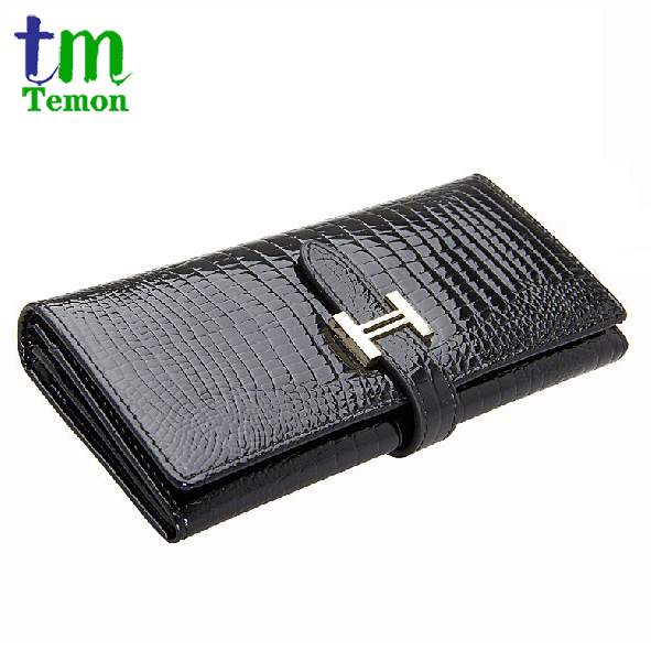 whole sale  5pcs/lot 100% Crocodile Pattern Genuine Leather Womens Long Wallet Ladies Fashion Evening Bag Clutch Bag Day clutch<br><br>Aliexpress