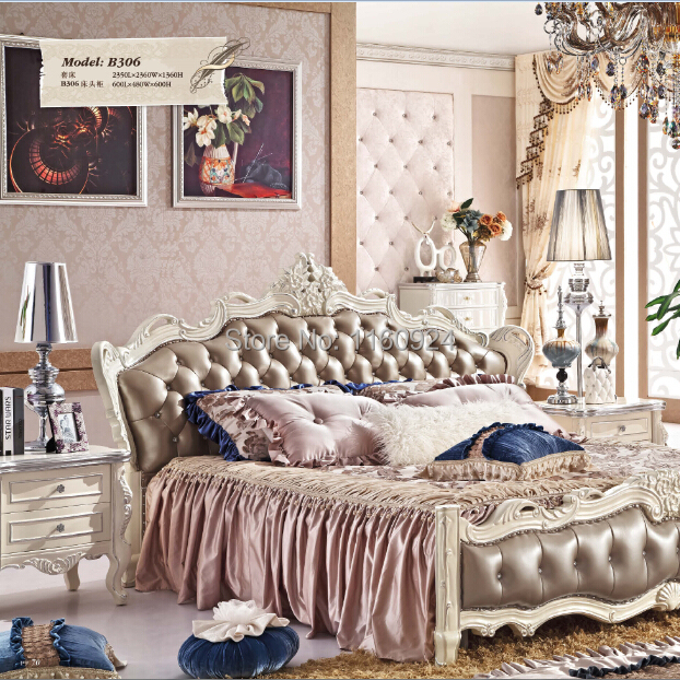 (B306)Fashionable Wooden Bedroom Furniture : 1 Bed and 1 Beside table(China (Mainland))