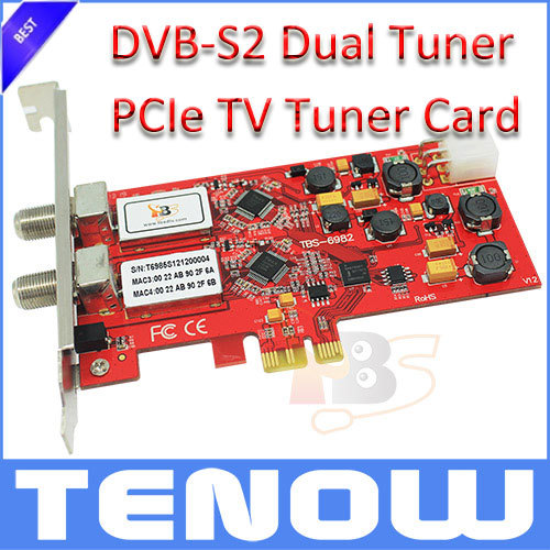 TBS Card TBS6982 DVB-S2 Dual Tuner TV Card Satellite TV Receiver Watch Satellite Free-to Air TV on PC(China (Mainland))