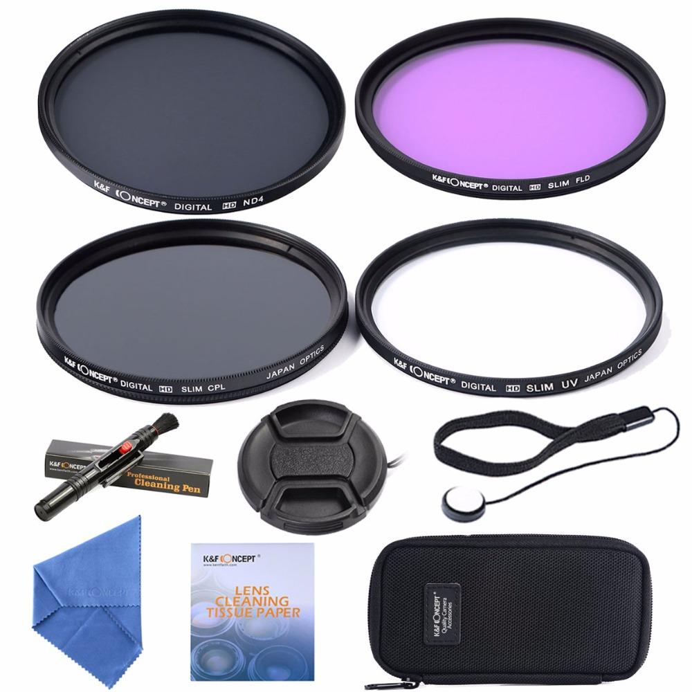 52mm UV CPL FLD ND4 +Cleaning kits+ pouch bag Filter Kit Lens Filter Kit for Nikon D7100 D7000 D3100 D3000 Dslr Camera(China (Mainland))