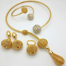 2016 New Fashion Imitation Pearl 24K Dubai Gold Plated Necklace set African Beads Costume Acessories Bridal wedding Jewelry Sets(China (Mainland))
