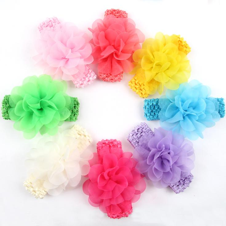 Top selling Hair Accessories Baby Lace Headband Baby Chiffon Flower hairband Infant girl headbands childern hair clip W092(China (Mainland))