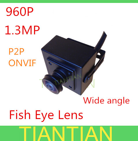 1.3MP Fish eye wide angle Lens mini IP Camera 960P ONVIF 2.0 indoor security HD camera bracket - Alan Han's store