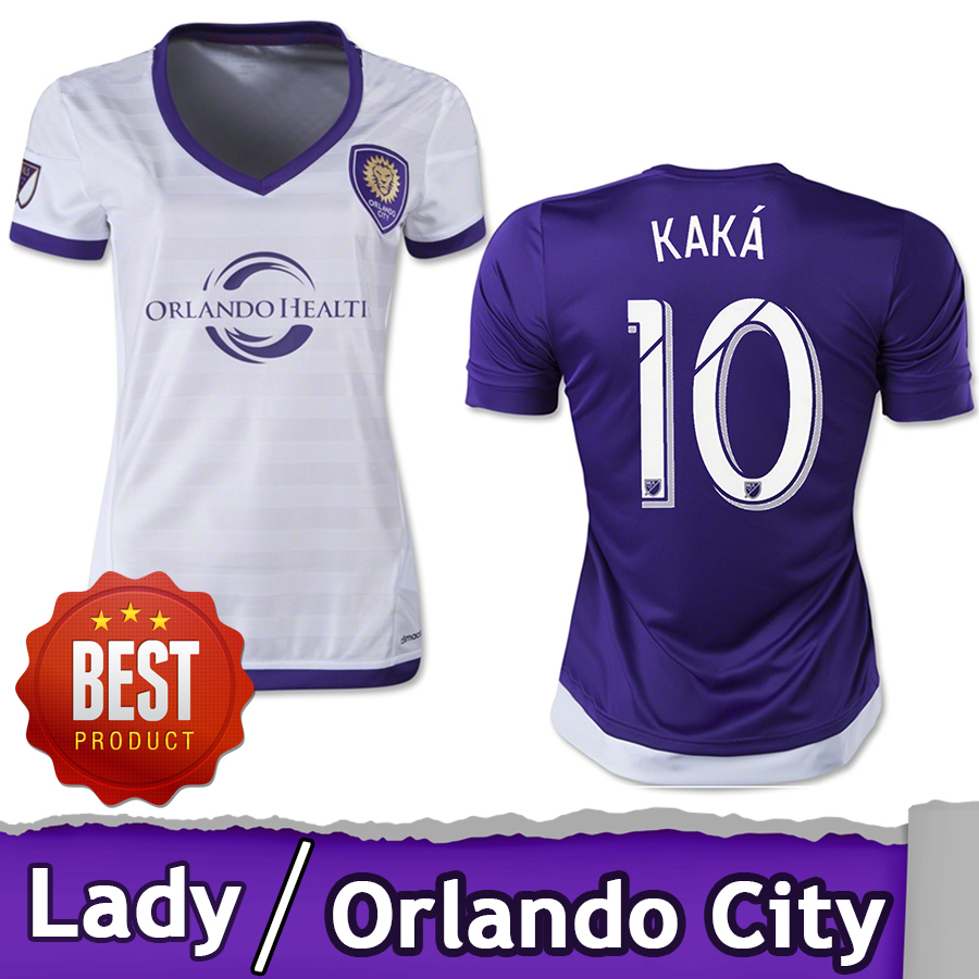 TOP Thailand Quality 2015 2016 Orlando city SC lady purple Home Major League women soccer Jerseys KAKA SHEA girls Football Shirt(China (Mainland))