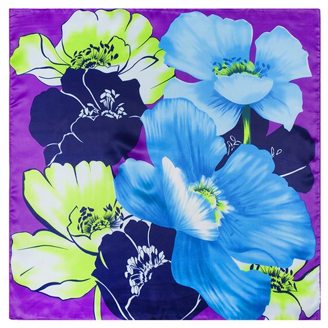 60 см * 60 см красочные ручная роспись цветочные мотивы цифровая печать дамы небольшой площади шарфы шелковые цветы май тонг шарфы